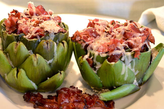 Schmacon Stuffed Artichoke Heart