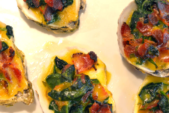 Schmacon Oysters - Rockefeller Style